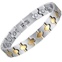 """ABUZITOS Magnetic Therapy Bracelet for Men Pain Relief Arthritis and Carpal Tunnel Pure Titanium Magnetic Bracelets,8.7"""" with Adjustable Tool"""
