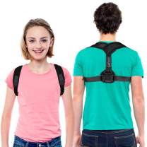 """LotFancy Posture Corrector for Women, Kids Over 10, Teens, Under Clothes, Adjustable Upper Back Brace For Clavicle Support Small (30""""-36"""" in Chest Circumference)"""