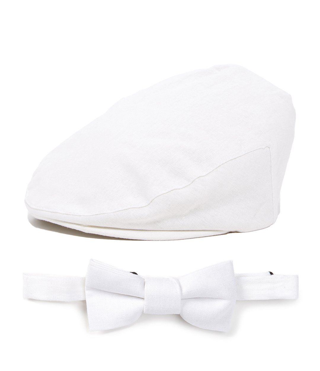 Baby Driver Cap and Bow tie Sets SM 52, White Set