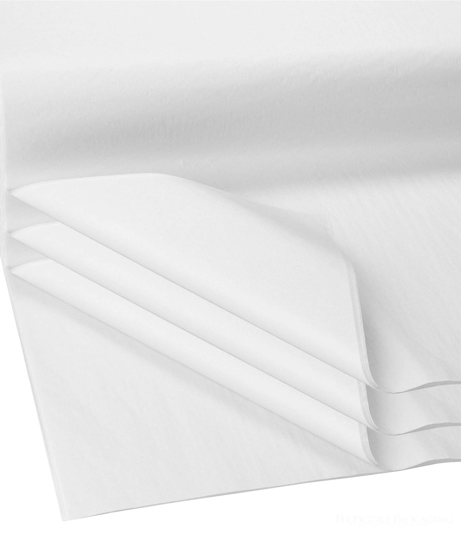White, 100 Sheets Gift Wrap Tissue Paper Acid Free Size: 15x20 Flexicore Packging/®