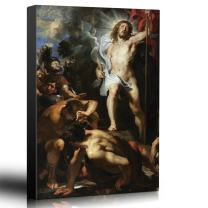 wall26 - Oil Painting of The Resurrection of Christ (Centre Panel) by Peter Paul Rubens in c. 1611-12 - Baroque Style - Jesus - Canvas Art Home Decor - 12x18 inches