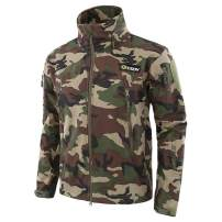 NEW VIEW Camo Jackets Outdoor Soft Shell Jacket Warm Hood Camouflage Hunting Jacket