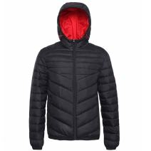 Men's Lightweight Water-Resistant Hooded Puffer Jacket Coat