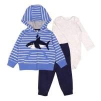 Little Bitty Baby Boy Outfits Clothes Dinosaur Hoodie Jacket Long Sleeve Bodysuit Pants Set 3Pcs