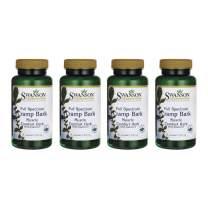 Swanson Full-Spectrum Cramp Bark 500 mg 60 Caps 4 Pack
