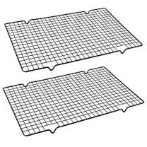 Mokpi Cooling Baking Rack, Drying Wire Racks, Size 16.14''x10'',Thick Heavy Duty Commercial Quality Grid Rack (2 pack)