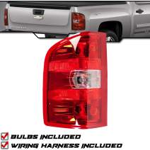 Epic Lighting OE Style Replacement Rear Brake Tail Light Compatible with 2007-2014 Silverado Sierra Chevy Pickup Truck [ GM2800207 25958482 ] Left Driver Side LH