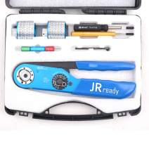 JRready Crimper Kit JST2058 Suitable for HARTING Han Connectors, WAIN 10A、16A electronic connector contacts, JRD-AF8(1-1105851-8) &Turret Head positioners & REMOV-HD Extraction Tool&G125 Gage