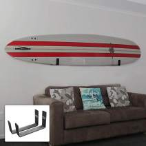 BPS Paddleboard/SUP Wall Rack, Minimalist Display for Indoors and Outdoors, Rust Resistant w/Soft Padding Protection