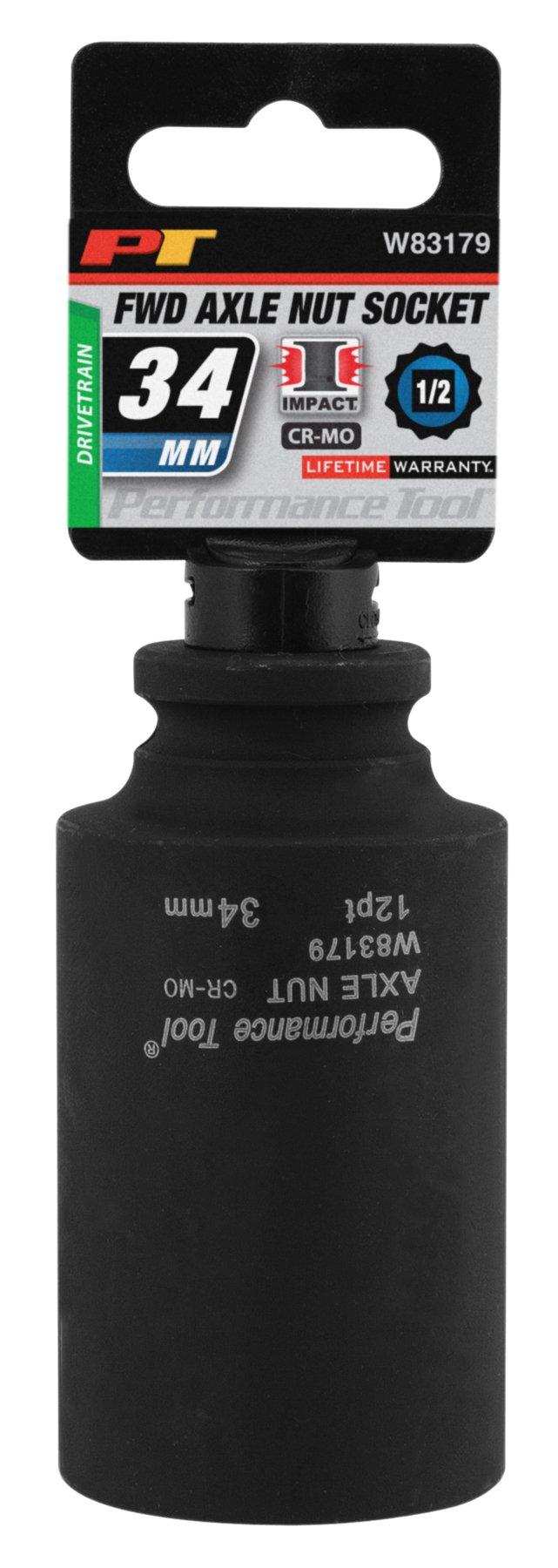 Performance Tool W83179 34Mm 12 Point Axle Nut Socket