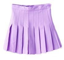 Golden service Women School Uniforms Plaid Pleated Costume Mini Skirt