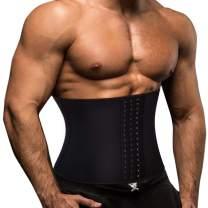 TOAOLZ Men Waist Trainer Slimming Belt Weight Loss Fitness Neoprene Fat Burner Sweat Trimmer, Back Support Band