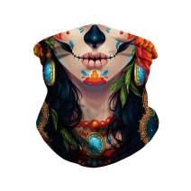 Ainuno Skull Mask Bandana Rave Mask Neck Gaiter Cool Face Wrap for Motorcycle,Outdoor,Dust Protection