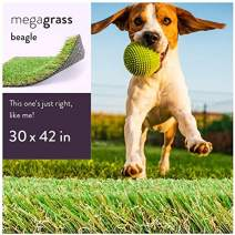 MEGAGRASS Pet Turf for Small, Medium, Large and XL Dogs – Indoor and Outdoor Artificial Grass Patch and Synthetic Puppy Potty Pee Pads