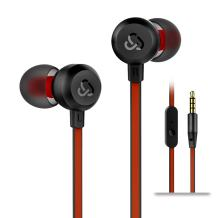 Earphones Cloudio J1 Noise Cancelling Earbuds in Ear Headphones with Microphone Noise Isolating Earbuds Sports Headphones Super Bass Earbuds for iPhone Android Phone iPad Tablet Laptop(Black)