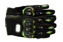 Premium Full Finger Motorcycle Gloves - Breathable Non-Slip - Ideal for Cycling, Motorcycle, Hiking, Camping, Tactical Airsoft, Paintball, ATV Riding - Perfect Fit For Men and Women (Large, Green)