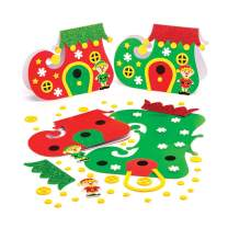 Baker Ross Christmas Elf Boot Card Kits, Festive Arts and Craft (Pack of 6)