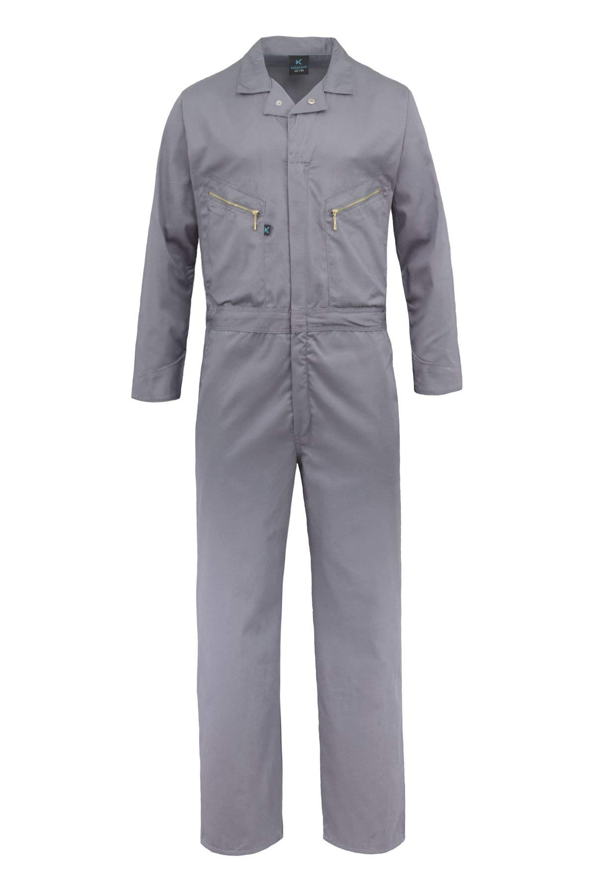 Kolossus Pro-Utility Cotton Blend Long Sleeve Coverall with Zippered Frontal Pockets