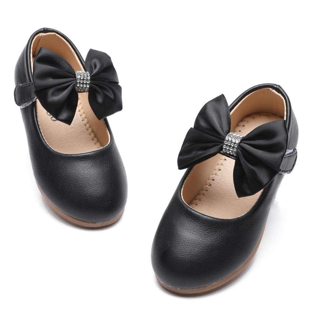 TIMATEGO Toddler Baby Girls Dress Shoes Ballet Sparkle Wedding Party Princess Mary Jane Ballerina Flats Shoes for Girls