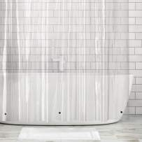 """mDesign Long Waterproof, Mold/Mildew Resistant, Heavy Duty Premium Quality 10-Guage Vinyl Shower Curtain Liner for Bathroom Shower Stall and Bathtub - 72"""" x 84"""" - Clear"""