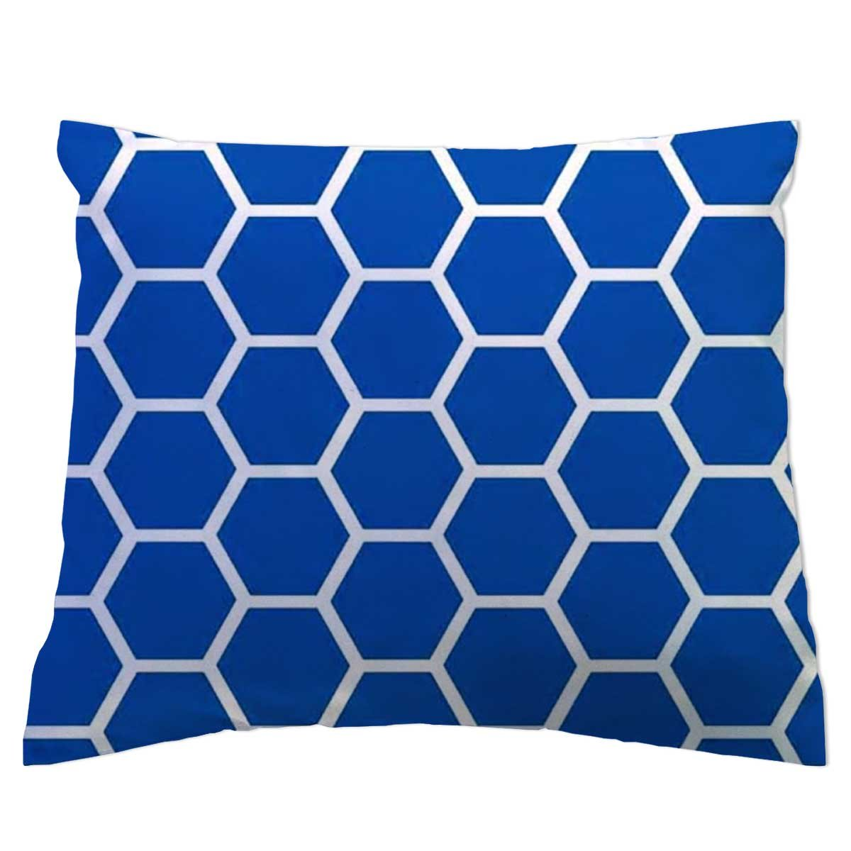 SheetWorld - Toddler Pillowcase Hypoallergenic Made in USA - Royal Blue Honeycomb 13 x 17