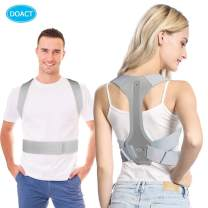 DOACT Posture Corrector for Men and Women, Spine and Back Support, Providing Pain Relief for Neck,Clavicle, Back, Shoulders, Upper Back Shoulder Posture Trainer Spinal Straightener- Gray L