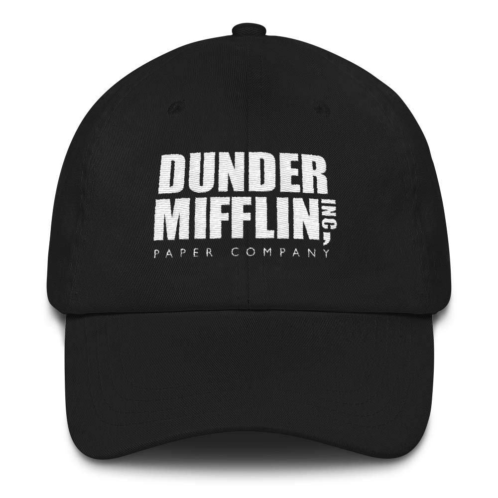 NBC The Office Dunder Mifflin Embroidered Hat Black