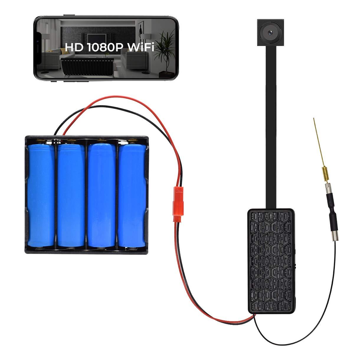 Spy Camera Module Wireless Hidden Camera WiFi Mini Cam HD 1080P DIY Tiny Cams Small Nanny Cameras Home Security Live Streaming Via Android/iOS/PC App Motion Detection Alerts