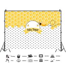 Baocicco 10x6.5ft Baby Shower Backdrop Beehive Backdrop Honeycomb Little Bee Banners Regular Hexagon Pattern Background Photography Background Girls Boys Birthday Party Newborn Adults Portrait Prop