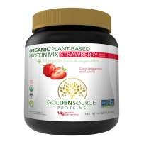 GoldenSource Proteins Organic Plant-Based Protein, Strawberry, 1 Pound