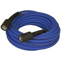 """Apache 10085585 1/4"""" x 50' 3100 PSI Xtreme Flex Pressure Washer Hose with Female Metric Fittings"""