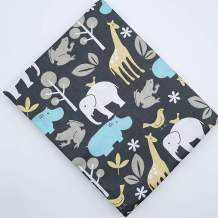 """thick 1Pcs 39.37"""" x 62.9""""(100 cmx160 cm)Cotton Fabric DIY Making Supplies Quilting Patchwork Fabric Fat Quarter Bundles DIY for Quilting Patchwork Cushions Cotton Fabric for Patchwork (62.9"""" x 39.3"""", Giraffe and Elephant)"""