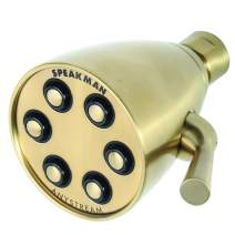 Speakman, Satin S-2252-AB-E2 Signature Brass Icon Anystream Adjustable Shower Head, 2.0 GPM