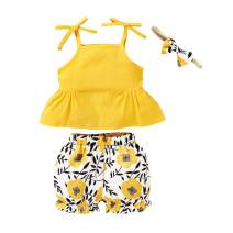 Anmino Newborn Baby Girl Clothes Set Little Baby Girl Skirt Set Outfits Shorts Set Pants Sets Cute Summer Outfits Clothes for Baby Girl