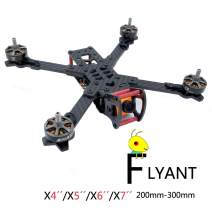 FPV Drone Frame X4/X5/X6/X7 200/230/260/300mm Drone Quadcopter Racing Frame, Carbon Fiber, X Structure (X5 230mm)