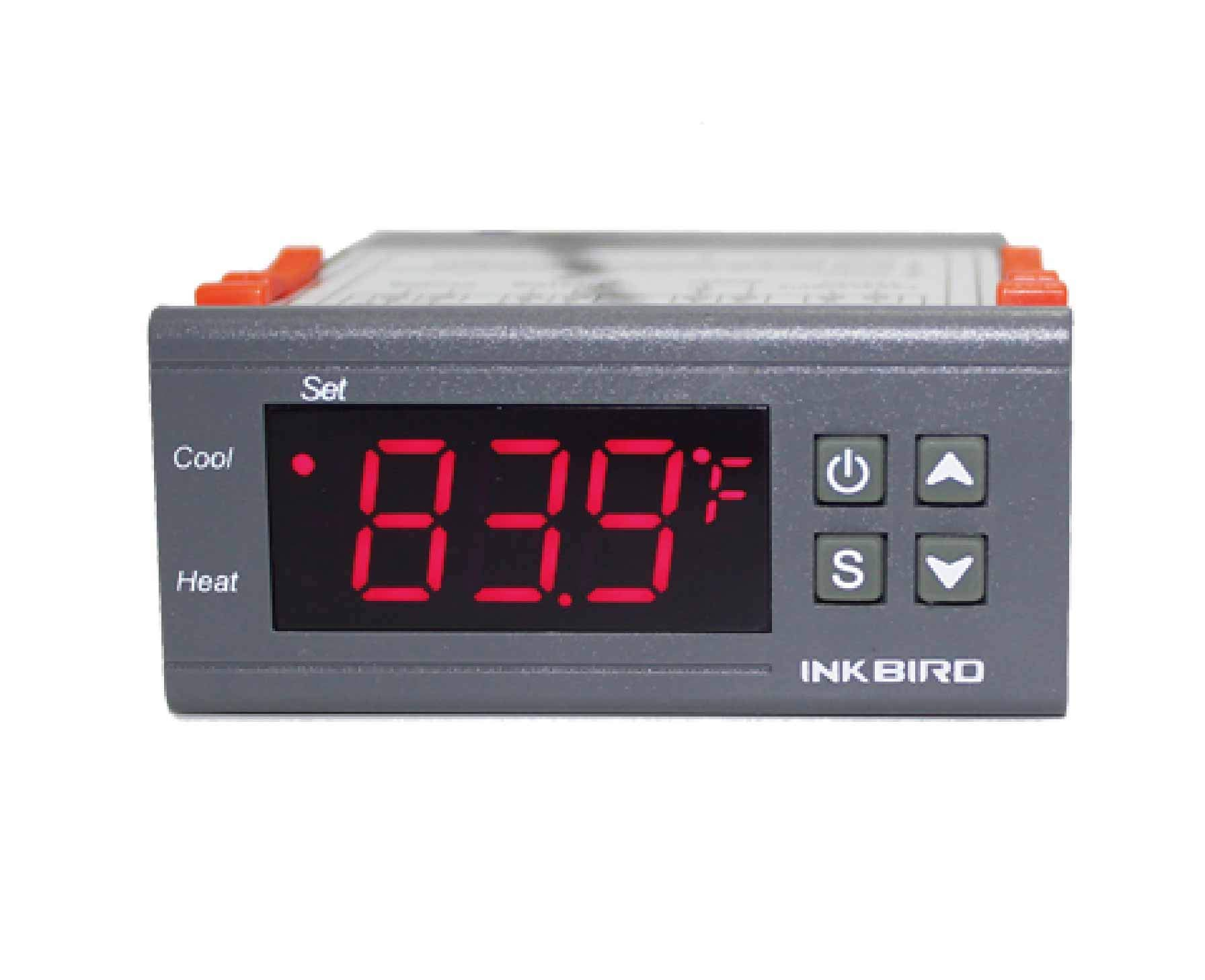 Inkbird Dual Stage DV 12V Digital Temperature Controller Fahrenheit Thermostat Heating and Cooling for Homebrewing Brew Fermenter Fridge Incubator Greenhouse