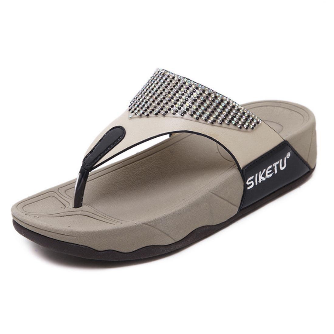 Aurorax Summer Comfortable Thongs Flip Flops Flat Sandals,Womens Lightweight Comfortable Slipper for Beach Outdoor Hanging
