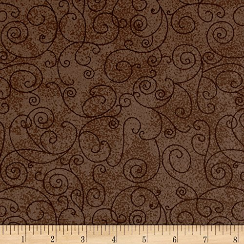 "Westrade Textiles 110"" Wide Flannell Willow Fabric by The Yard, Taupe"