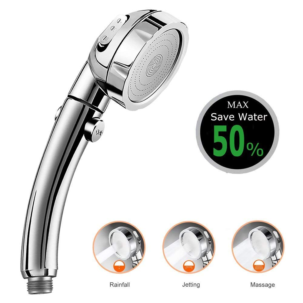 3 In 1 High Pressure Showerhead Handheld Shower Head NEW ON//Off//Pause with Y4Q4