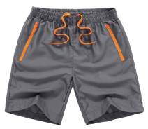 MADHERO Men Swim Trunks with Zipper Pockets Quick Dry Bathing Suits Mesh Lining