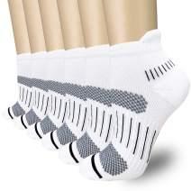 Copper Compression Running Socks for Women & Men, Best Athletic & Medical for Sports, Flight, Travel, Nurses, 8-15mmHg