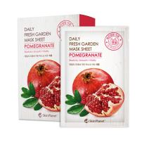 Set of 10, The Elixir Beauty Daily Fresh Garden Tencel Mask Sheet Pomegranate Korean Beauty Cosmetic Facial Mask Pack, 25g (Elasticity, Smooth, Vitality)