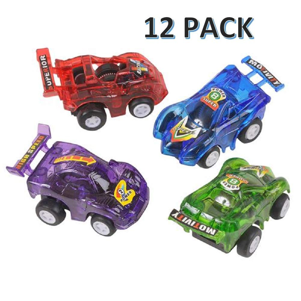 """CUZAIL Party Favors for Adult & Kids - Party Supplies- Pullback Cars Mini 2.5"""" -Pack of 12 - Bright Assorted Colors and Styles Party Decorations Entertainment - Birthday Gifts"""