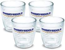 Tervis 1142170 Embry-Riddle Eagles Logo Tumbler with Emblem 4 Pack 12oz, Clear