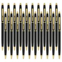 Black Pens, Cambond Ballpoint Pen Bulk Black Ink 1.0 mm Medium Point Smooth Writing for Men Women Police Uniform Office Business, 20 Pack (Black) - CP0101-20