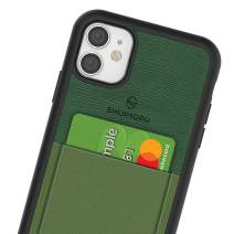 Sinjimoru iPhone 11 Case with Slim Wallet, Protective TPU Phone Case with Credit Card Holder for Back of Phone. Sinji Pouch Case for iPhone 11, Green