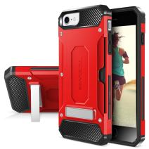 iPhone 7 / iPhone 6 Case, Evocel [Explorer Series Pro] Dual Layer Credit Card Case with Magnetic Kickstand for iPhone 7 / iPhone 6 & 6s, Red (EVO-IPH7-CK03)