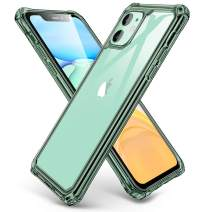 ESR Air Armor Designed for iPhone 11 Case [Shock-Absorbing] [Scratch-Resistant] [Military Grade Protection] Hard PC + Flexible TPU Frame, for The iPhone 11, Transparent Dark Green