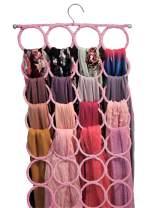 Scarf Hanger, Multiple Purpose Holder for Closet, Clutter Removing Hanger for Scarves, Shawl, Belts & Accessories (Blush Pink/Rose)