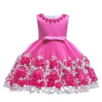 LZH Baby Girls Dress Formal Gowns Pageant Birthday Lace Wedding Dress Toddler